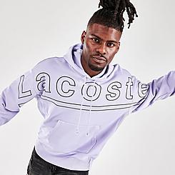 Men's Lacoste L!VE Printed Pullover Hoodie