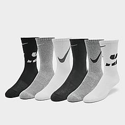 Boys' Nike Everyday Cushioned 3-Pack Crew Socks