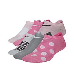 Kids' Nike Everyday 6-Pack Lightweight Graphic No-Show Socks