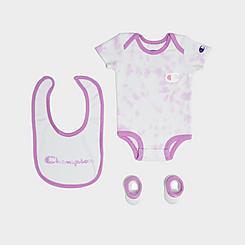 Infant Champion Tie-Dye Onesie, Bib and Booties Gift Box Set (3-Piece)