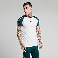 Men's SikSilk Raglan Straight Hem Gym T-Shirt