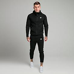 Men's SikSilk Motion Tape Full-Zip Hoodie and Jogger Pants Track Suit