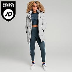 Women's SikSilk Long Padded Puffer Jacket