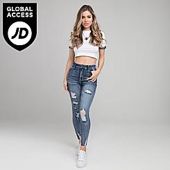 Women's SikSilk Fade Denim Jeans