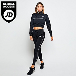 Women's SikSilk Logo Tape Jogger Pants