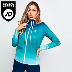 Women's SikSilk Fade Hooded Track Jacket