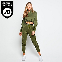 Women's SikSilk Cargo Pocket Jogger Pants