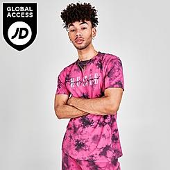 Men's Supply & Demand Fluro Tie-Dye T-Shirt