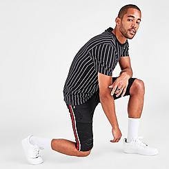 Men's Supply & Demand Racer Stripe Denim Shorts