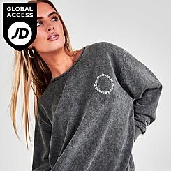 Women's Supply & Demand Gothic Washed Crewneck Sweatshirt