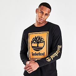 Timberland Stack Logo Long-Sleeve T-Shirt