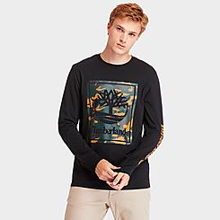 Men's Timberland Camo Stack Logo Long-Sleeve T-Shirt
