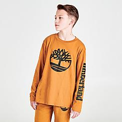 Boys' Timberland Big Tree Arm Hit Long-Sleeve T-Shirt