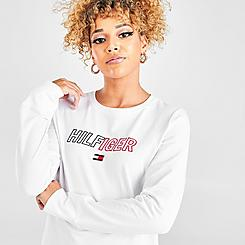 Women's Tommy Hilfiger Embroidered Scoop Neck Long-Sleeve T-Shirt