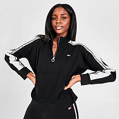 Women's Tommy Hilfiger Logo Tape Mock-Neck Half-Zip Sweatshirt