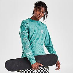 Men's Vans Doodle Tie-Dye Long-Sleeve T-Shirt