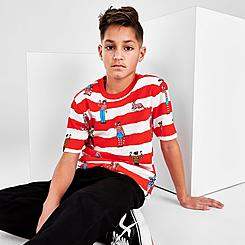 Kids' Vans x Where's Waldo Striped T-Shirt