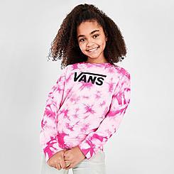 Girls' Vans Hypno Tie-Dye Crewneck Sweatshirt