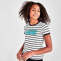 Girls' Vans Tray Stripe Logo T-Shirt