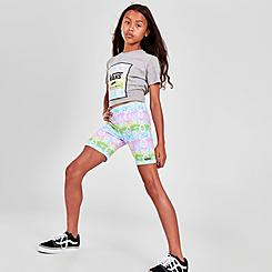Girls' Vans Rainbow Skull Bike Shorts