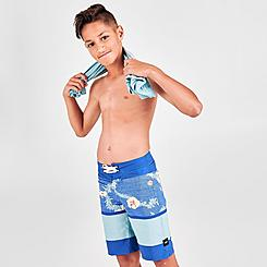 Boys' Vans Striped Print Board Shorts