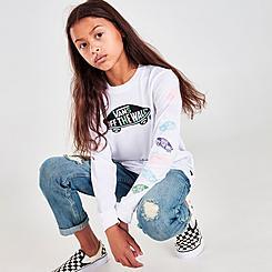 Girls' Vans Off The Wall Logo Long-Sleeve T-Shirt