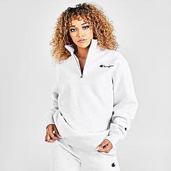 Women's Champion Reverse Weave Oversize Quarter-Zip Sweatshirt