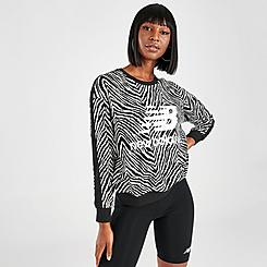 Women's New Balance Athletics Animal Print Crewneck Sweatshirt